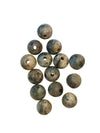 6-7mm Black and Grey Marble (N) Round