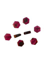 6x6-7x6mm Rhodolite Garnet (D) Hexagon Designer Quality