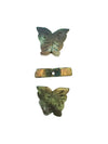 21x20-22x21mm Green Serpentine (N) Butterfly