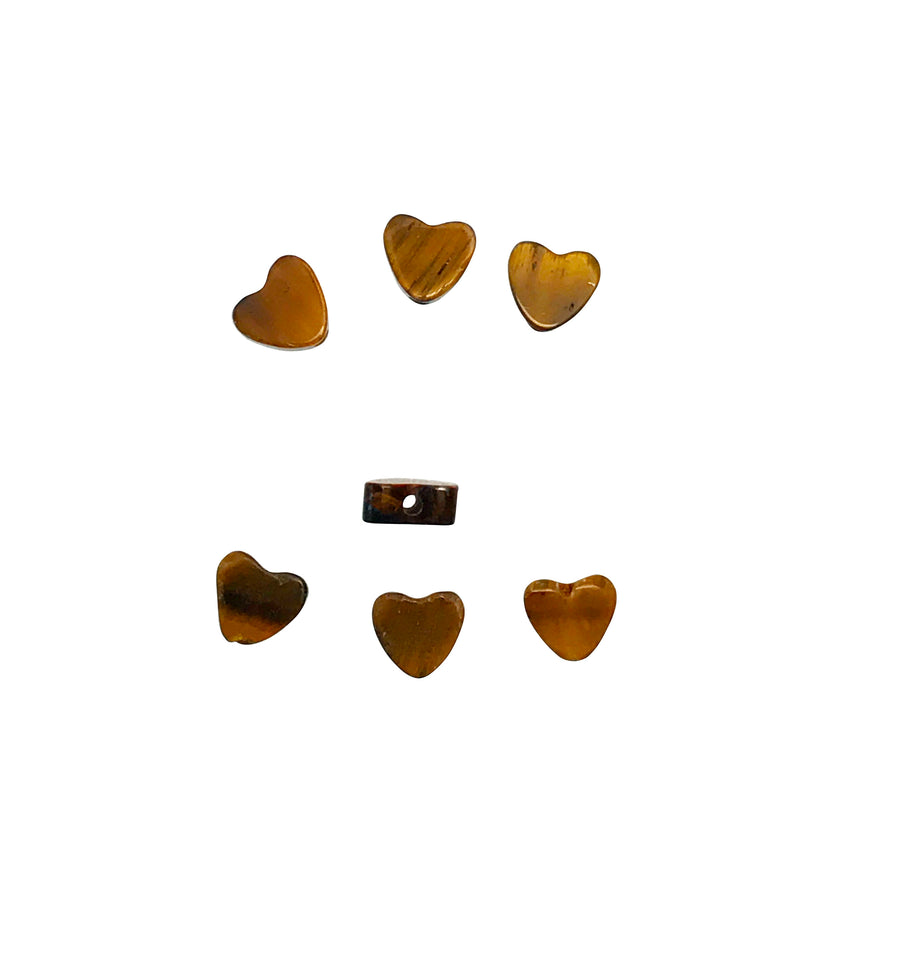 4x4mm Tigereye (N) Heart Designer Quality