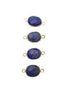 9x7-12x10mm Lapis Lazuli (N) Double Sided Freeform Oval