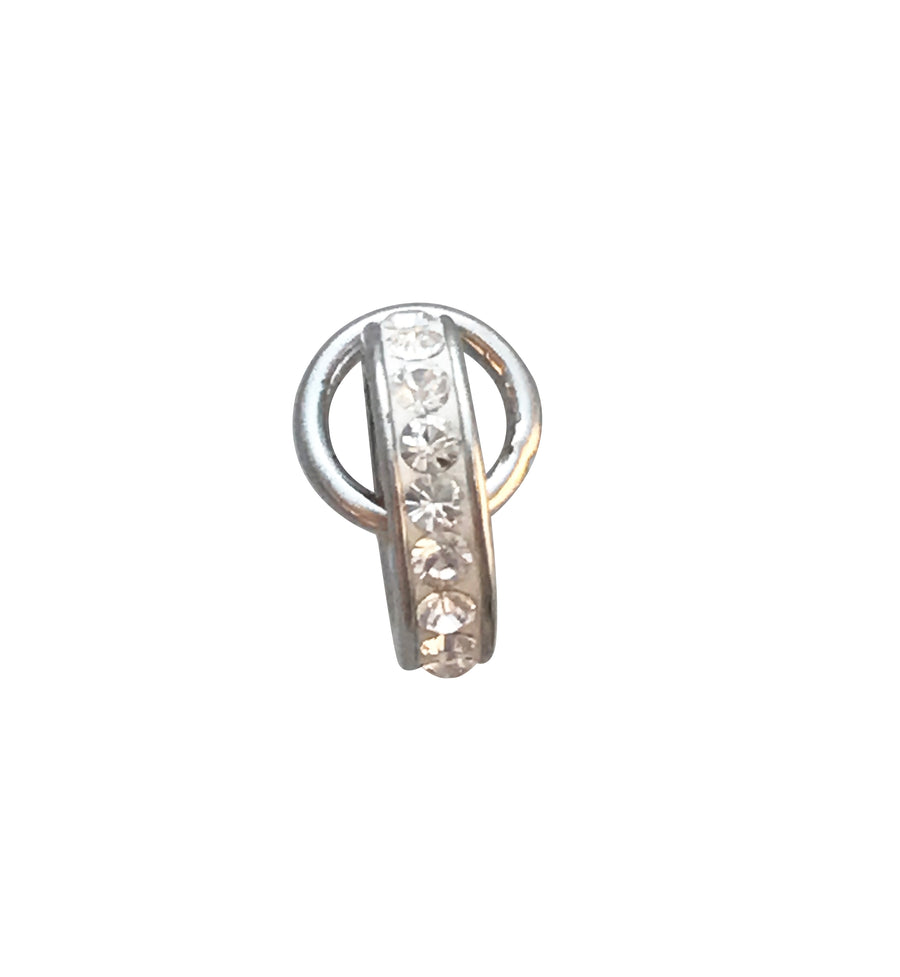 9.5mm Silver and Cubic Zirconia Charm Enhancer