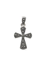 17x14mm Marcasite (N) Cross Pendant with Decorative Bail