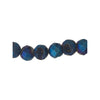 6mm Agate Druzy Geode Round Beads, Blue