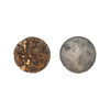 12mm Agate Druzy Geode Coin Bead, Metallic Gold