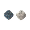 12mm Agate Druzy Square Bead, Iridescent Blue Green