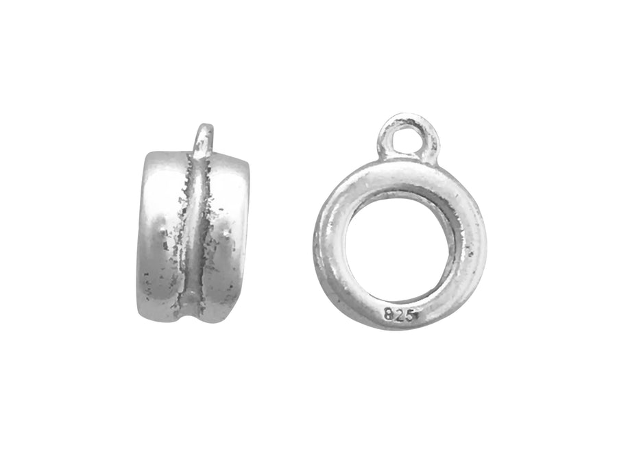 8mm Sterling Silver Round Bead with Open Loop