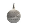 16mm Polished Sterling Silver Two-sided Engraved Mom Charm