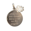 16mm Polished Sterling Silver Kisses By Angels Charm