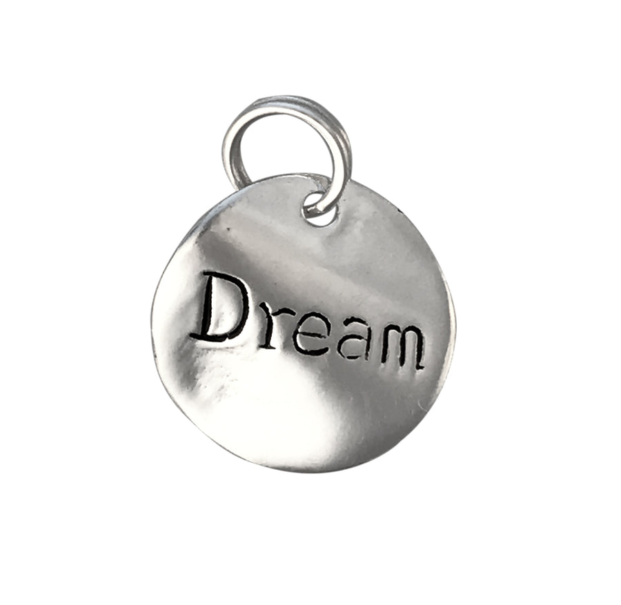 14mm Sterling Silver Two-Sided Dream Charm