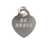 20x16mm Sterling Silver Single-Sided Be Brave Engraved Charm