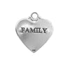 17x15mm Sterling Silver Two-Sided Family Engraved Charm