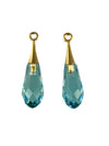 Swarovski® Crystals #6532 - 21x6mm Aquamarine Pure Drop GPB Pendant