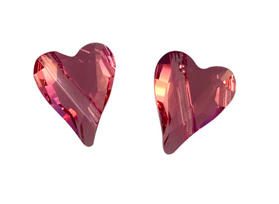 Swarovski® Crystals #5743 - 12x10mm Rose Wild Heart