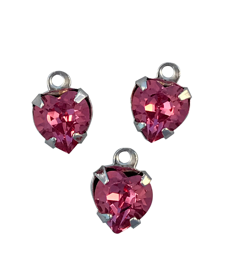 Swarovski® Crystals #12204 - 6x6mm Rose RPB Heart Drop