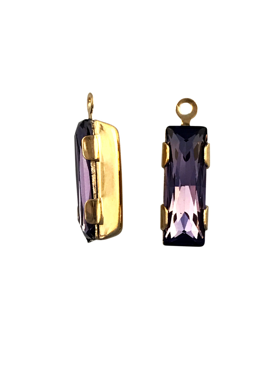 Swarovski® Crystals - 19x6mm Tanzanite GPB Drop