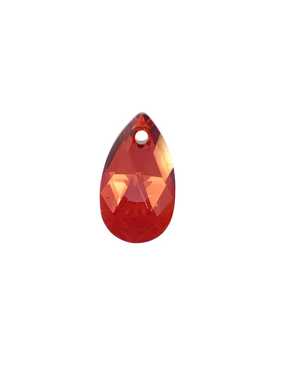 Swarovski® Crystals #6106 -16x9mm Crystal Red Magma Pear Pendant