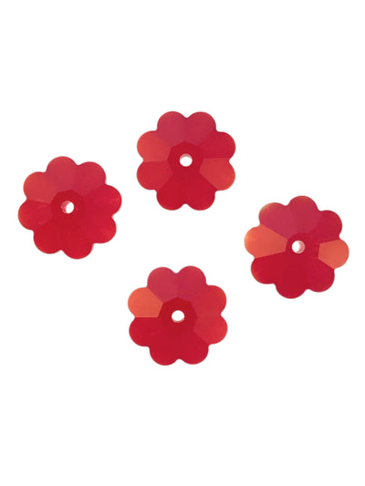 Swarovski® Crystals #3700 - 10x3.5mm Light Siam Marguerite Flower