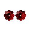 Swarovski® Crystals #3700 - 12x4mm Light Siam Marguerite Lochrose Flower