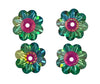 Swarovski® Crystals #3700 - 10x3.5mm Vitrail Medium Marguerite Lochrose Flower