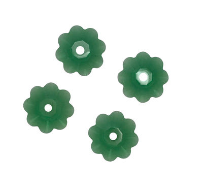 Swarovski® Crystals #3700 - 8x3mm Dark Moss Green Marguerite Lochrose Flower