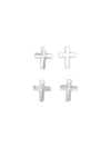 Swarovski® Crystals #6860 - 12x10mm Clear Cross Drop