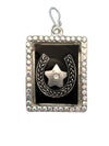 45x36mm Horseshoe and Star Shadowbox Pendant