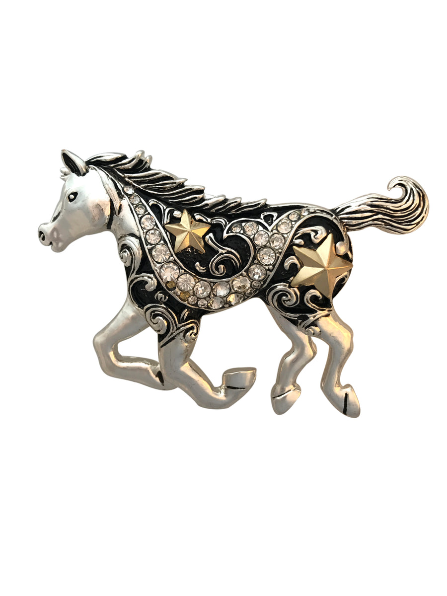 83x55mm Oversized Magnetic Running Horse Pendant