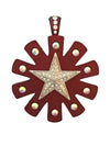 63mm Metallic Rusty Red Rowel With Star Pendant