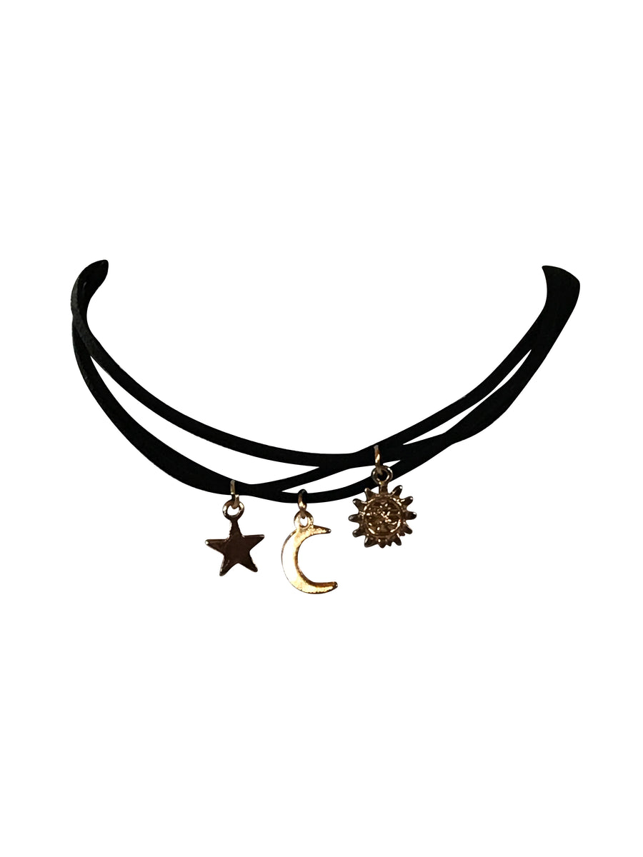 Sun, Moon and Stars 3 Chokers In One, 13 Inches