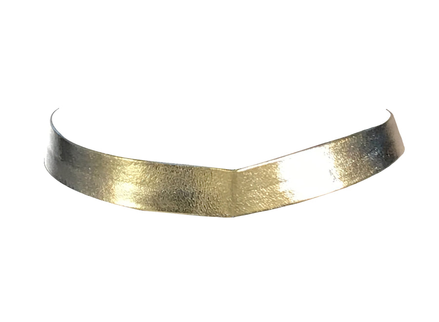 Silver Colored Metallic Choker, 12 Inches
