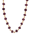 Gold Finished Sterling Silver and Natural Amethyst Necklace, 18 Inches