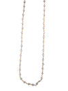 Gold Finished Sterling Silver and Natural Rainbow Moonstone Necklace, 18 Inches