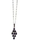 Sterling Silver and Natural Lapis Lazuli Necklace, 18 Inches