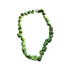 Chunky Green Howlite Vintage Necklace, 18 Inch