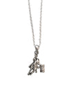 Detailed Barrel Racer Pendant Necklace, 16 Inches