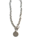 Tiffany Style Rider's Prayer Necklace, 18 Inches