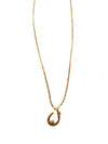 Gold Finished Horseshoe Crystal Necklace, 18 Inches