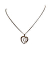 Horse Head Heart Necklace, 15.5 Inches
