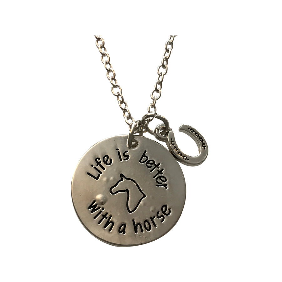 Life Is Better With A Horse Necklace, 18 Inches