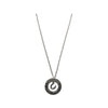 Live, Love, Ride Hollow Disk Pendant Necklace, 18 Inches