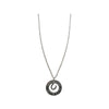 Keep Calm & Ride On Hollow Disk Pendant Necklace, 18 Inches