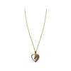 Gold Finished Heart and Horse Head Pendant Necklace, 18 Inches