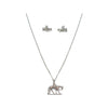 Western Pleasure Necklace and Earring Set, 18 Inches