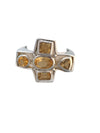 Sterling Silver and Heated Citrine Ring, Size 8
