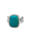 Sterling Silver and Stabilized Turquoise Ring, Size 7