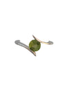 Sterling Silver and Natural Peridot Ring, Size 7