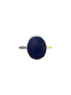 Sterling Silver and Natural Lapis Lazuli Ring, Size 9
