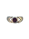 Sterling Silver and Natural Amethyst Ring, Size 7