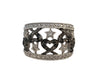 Rhodium Plated Sterling Silver Cubic Zirconia Ring, Size 7